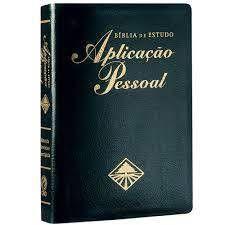 Bíblia Sagrada de Estudo Aplicação Pessoal Média. Luxo Preta