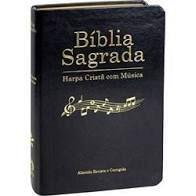 Bíblia Sagrada Harpa Cristã com Música. Capa Luxo Preta. Grande
