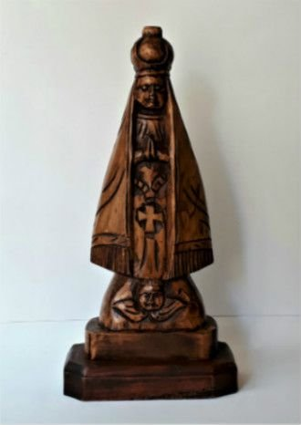 Nossa Senhora Aparecida em madeira - 32cm
