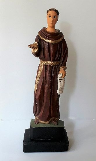 São Frei Galvão Esculpido em Madeira. 34cm