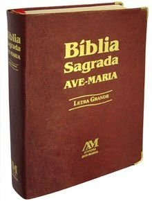 Bíblia Sagrada Letra Grande. Cor Marrom. Ed. Ave Maria