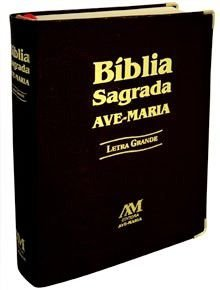 Bíblia Sagrada Letra Grande. Cor Preta. Ed. Ave Maria