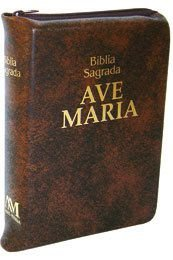 BÍBLIA ZÍPER - MÉDIA MARROM