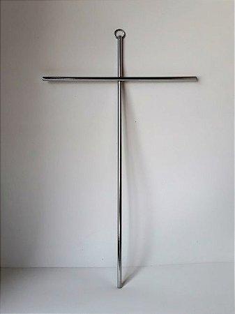 Cruz de Parede Cromada. Grande. 28cmX17cm