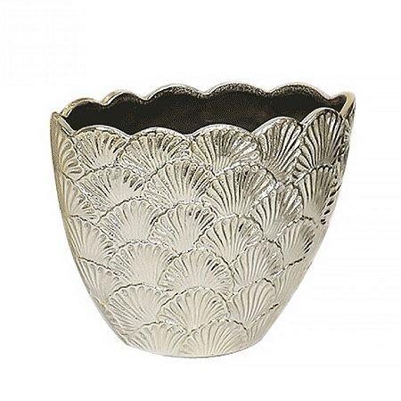 Cachepot de Cerâmica Dourado - 22x28 cm