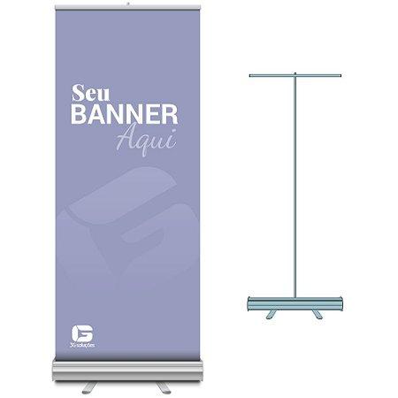 Porta Banner Roll-up 0,80 x 2,00m Com Banner