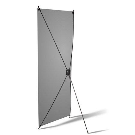 Porta Banner X 0,80 x 1,80m Com Banner