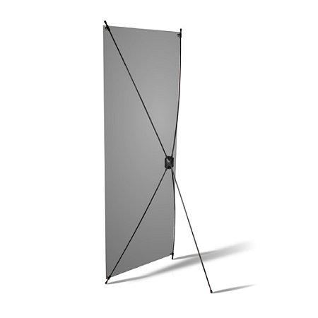 Porta Banner X 0,60 x 1,60m Com Banner
