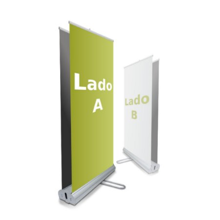 Porta Banner Roll-up Dupla Face 80 x 200cm