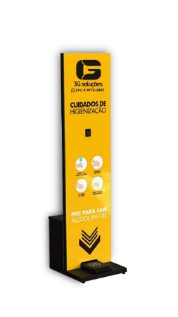 Totem Display para Álcool em Gel Para 5 Litros de Álcool
