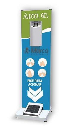 Totem Display para Álcool em Gel 1 Metro - Compacto
