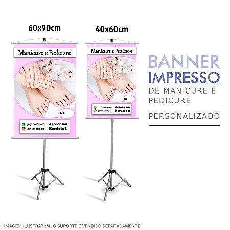 Banner Impresso Manicure e Pedicure Personalizado