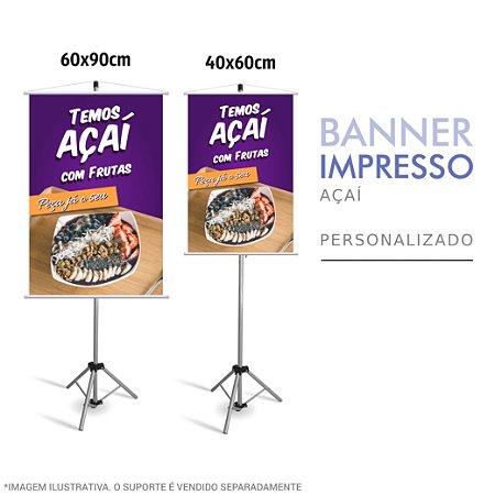 Banner Impresso Temos de Açaí