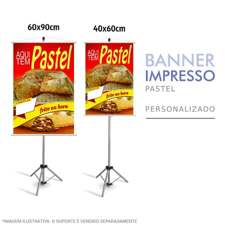Banner Impresso de Pastel Frito na Hora