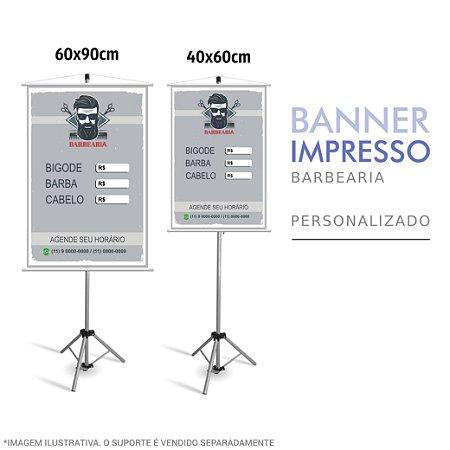 Banner Impresso de Barbearia Personalizado
