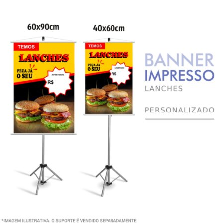 Banner Impresso de Lanches Personalizado