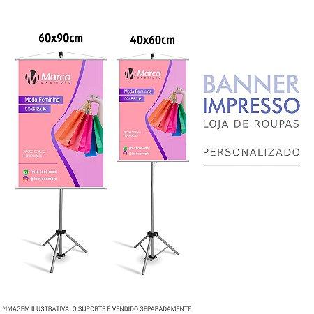 Banner Impresso de Loja de Roupas Personalizado