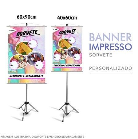 Banner Impresso de Sorvete - Sorveteria