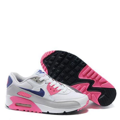 4338a14df86 ... ireland tênis nike air max 90 feminino branco rosa cinza b5a0a 7fa45