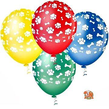Balão patinhas cor - 2un