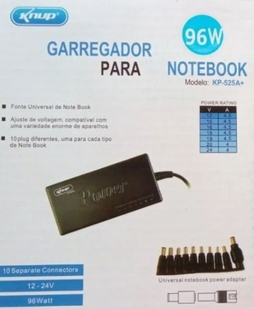 FONTE CARREGADOR UNIVERSAL PARA NOTEBOOK