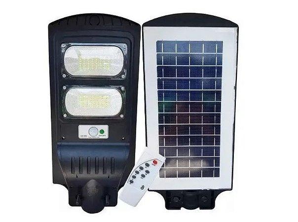 LUMINÁRIA POSTE SOLAR LED 60W COMPLETA COM CONTROLE