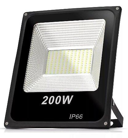 REFLETOR HOLOFOTE SLIM 200W BRANCO FRIO - IP66