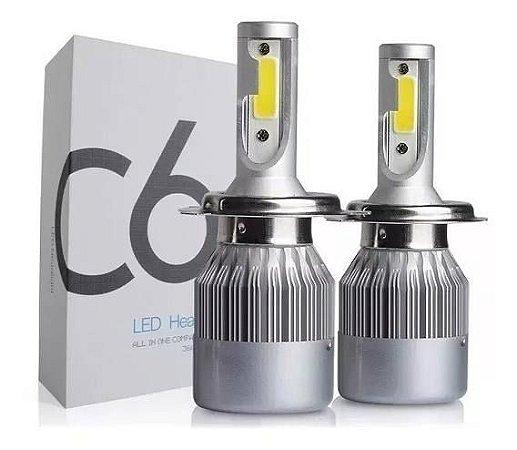 FAROL LAMPADAS SUPERLED COM COOLER  6000K - 7200 LUMENS - C6