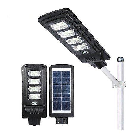 LUMINÁRIA POSTE SOLAR LED 120W COMPLETA COM CONTROLE