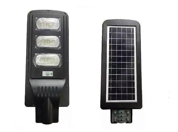 LUMINÁRIA POSTE SOLAR LED 90W COMPLETA COM CONTROLE