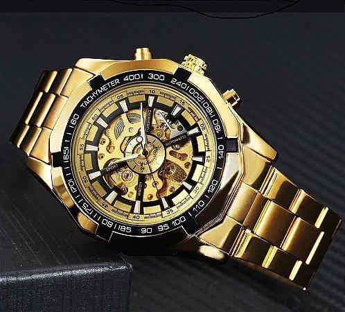 Relógio Dourado Winner