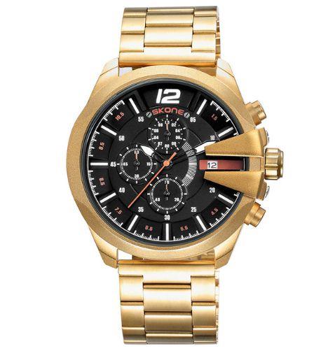 Relógio Dourado Skone