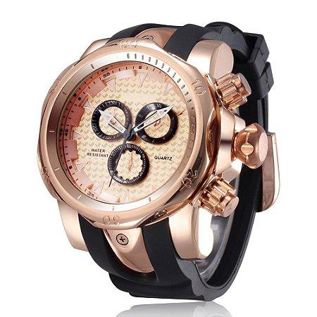 Relógio Dourado Big Dial
