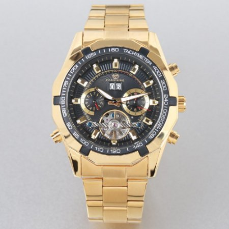 Relógio Dourado Forsining