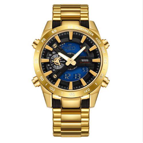 Relógio Dourado Temeite Sport