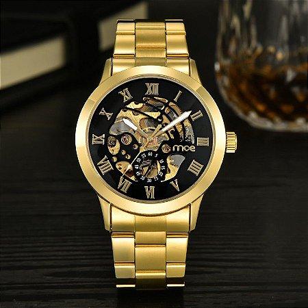 Relógio Dourado Mce Sport
