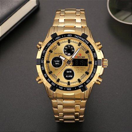Relógio Dourado Mizums Classic