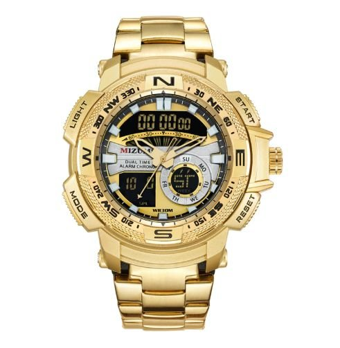 Relógio Dourado Mizums Sport