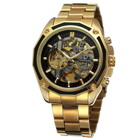 Relógio Dourado Fossining Automático