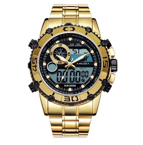 Relógio Dourado Amuda Elegance