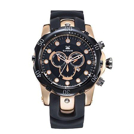 2ea7cb27d6c Relógio Dourado Kanishi Sport 007 - Gang Watch