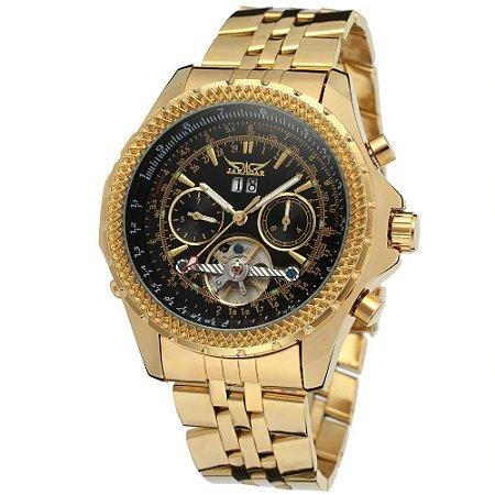 Relógio Dourado Jaragar 101