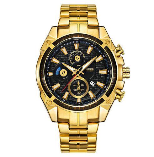Relógio Dourado Temeite Luxo
