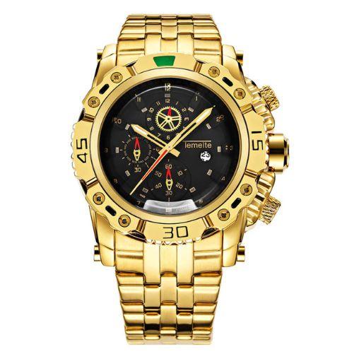 Relógio Dourado Temeite Casual