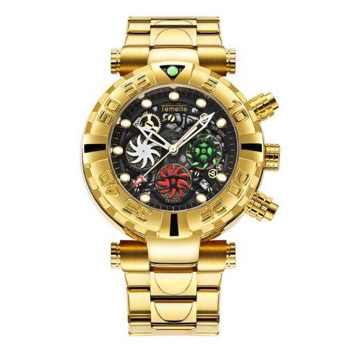 Relógio Dourado Temeite Modern