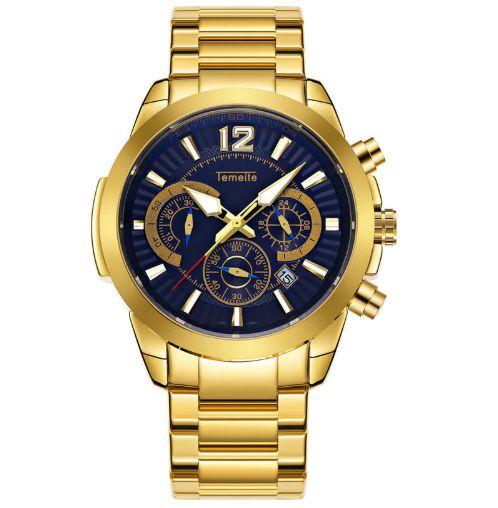 Relógio Dourado Temeite 1001