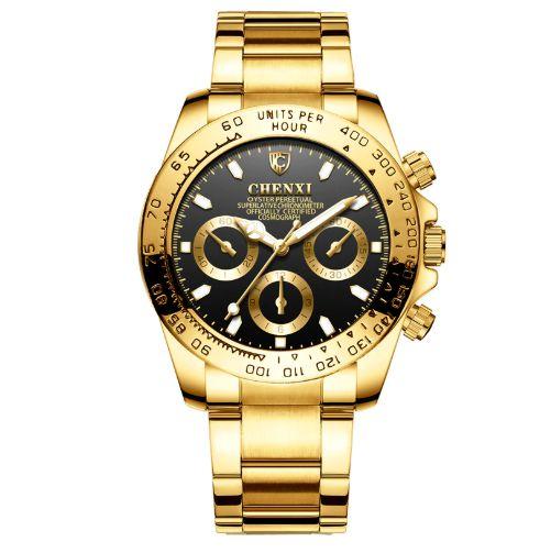 Relógio Dourado CHENXI Lux