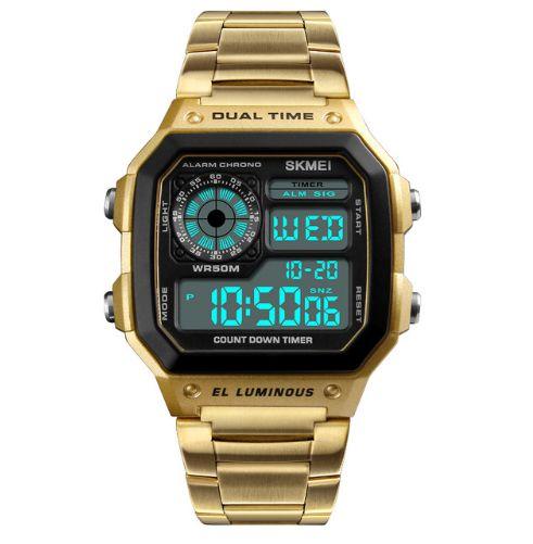 Relógio Dourado Skmei Hour