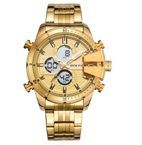 Relógio Dourado Ristos Metal