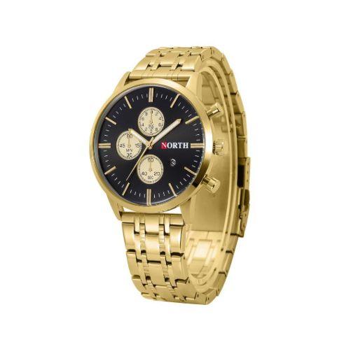 Relógio Dourado North Luxury